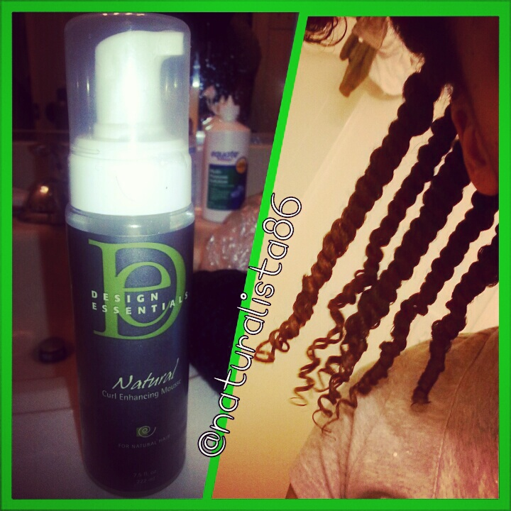 Design Essentials Natural Curl Enhancing Mousse Happily Ever Natural